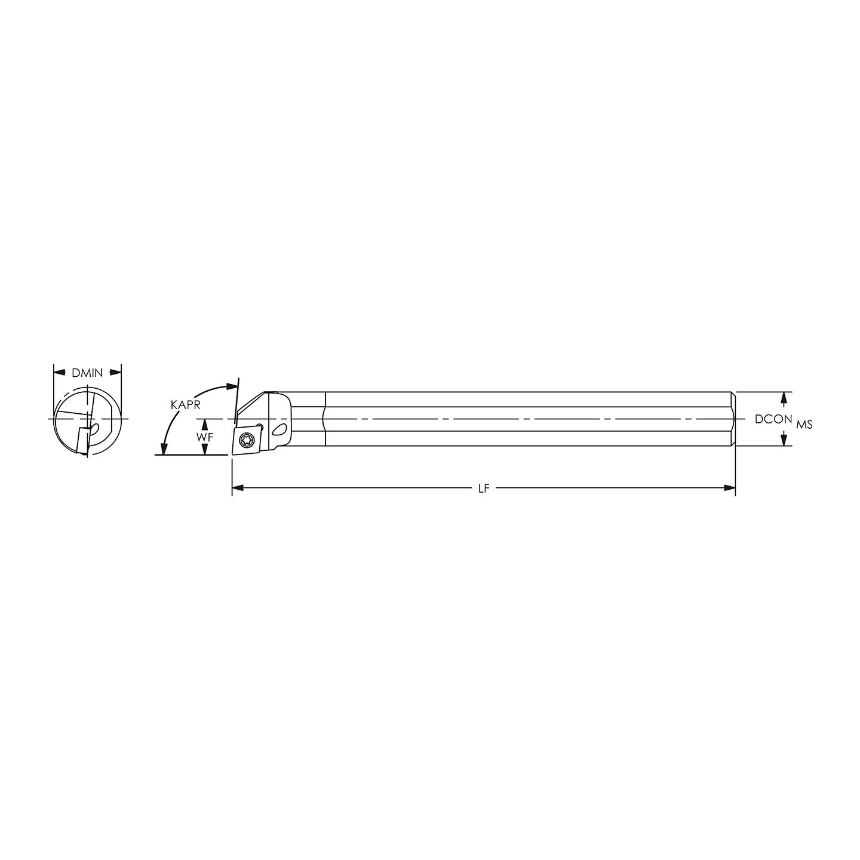 Everede C06M SWLCL-2 Carbide Boring Bar