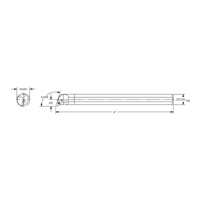 Everede E08R STFCL-2 Carbide Boring Bar